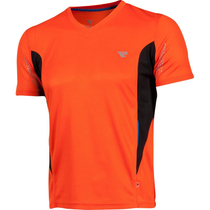 NEU-RP-Herren-Laufshirt-Kurz-Herren-Jogging-Bekleidung-Orange-Running