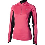 new balance MEGAHEAT COMPETITON 1\/2 ZIP DAMEN LAUFSHIRT LANG product photo