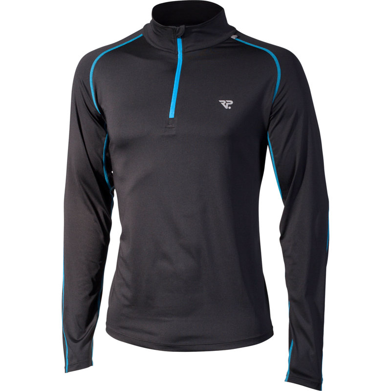 NEU-RP-Longsleeve-Zip-Herren-Laufshirt-langarm-schwarz-blau-Jogging