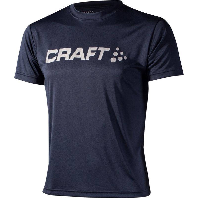 NEU-Craft-Active-Run-Logo-Tee-Herren-Laufshirt-Kurz