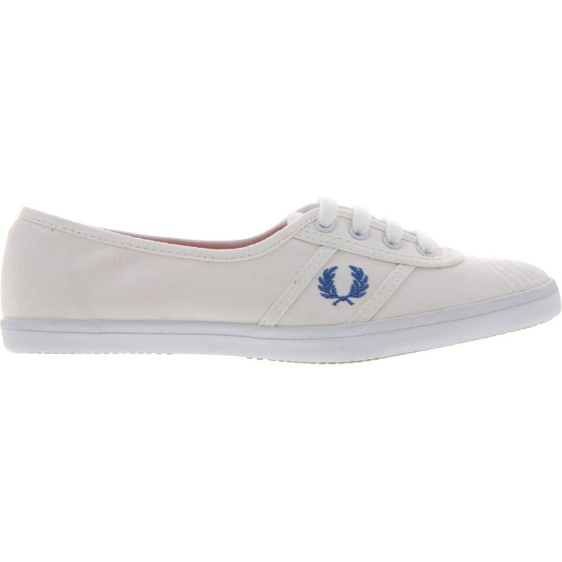 new fred perry aubrey canvas womens casual shoes white ebay. Black Bedroom Furniture Sets. Home Design Ideas