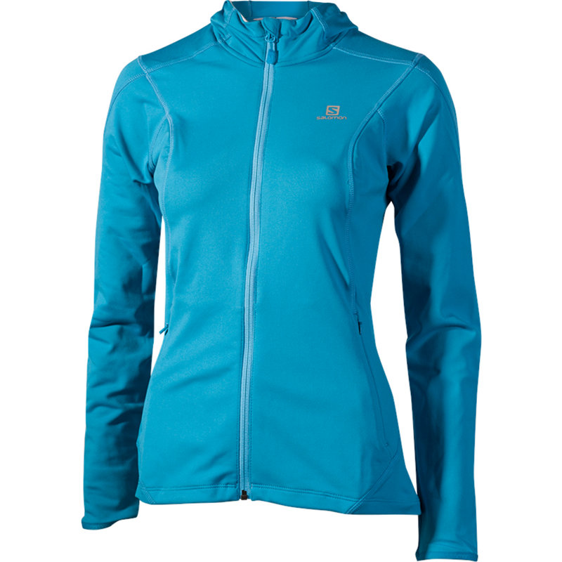 NEU-Salomon-Discovery-Hooded-Midlayer-Damen-Laufjacke-Blau