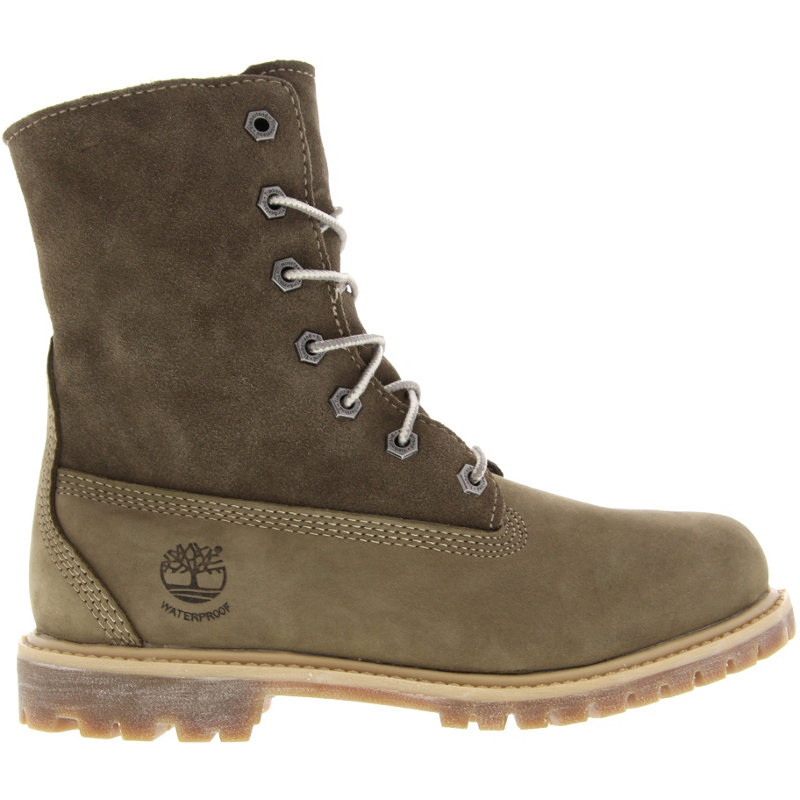 NEU-Timberland-Authentics-Teddy-Fleece-WP-Fold-Down-Damen-Winterboots-Braun