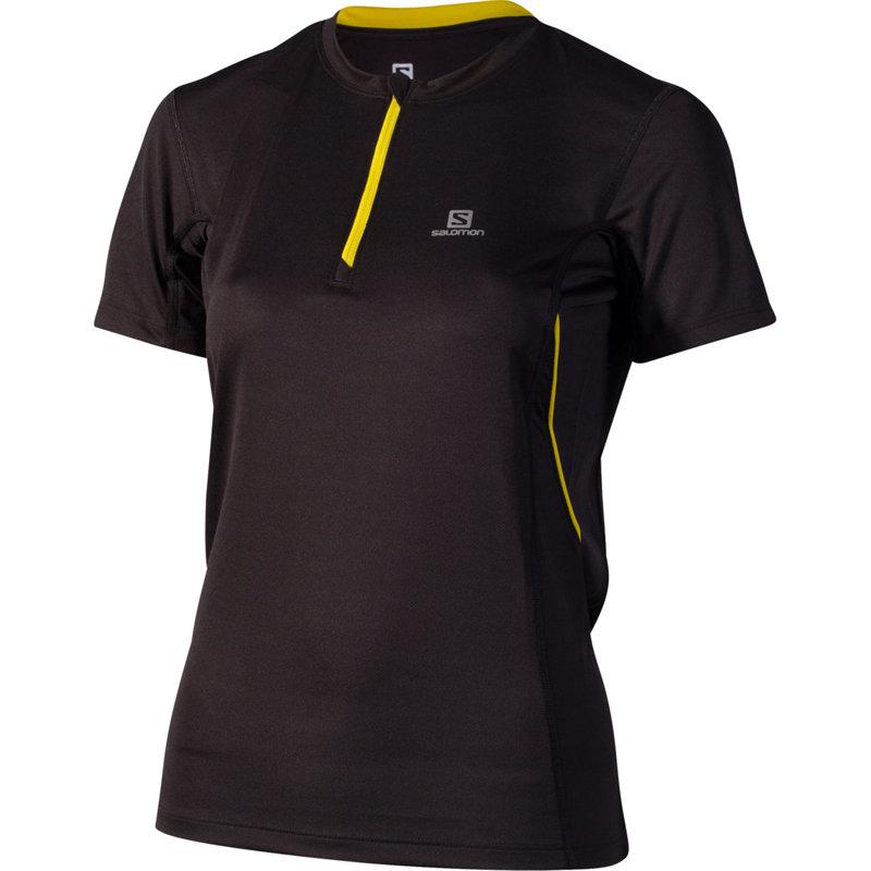 NEU-Salomon-Trail-1-2-Zip-Tee-Damen-Laufshirt-Kurz