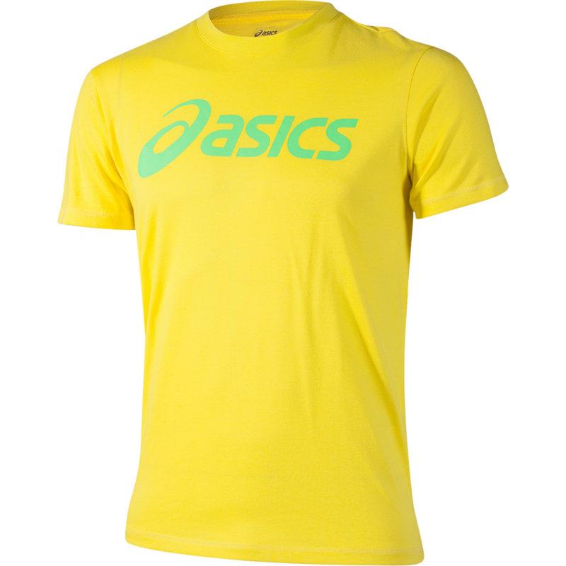 NEU-Asics-Short-Sleeve-Logo-Tee-Herren-Freizeitshirt-Gelb