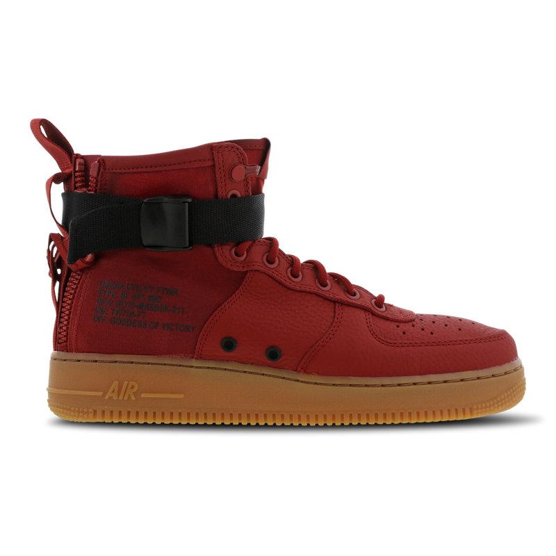 Nike Air Force 1 herensneaker rood