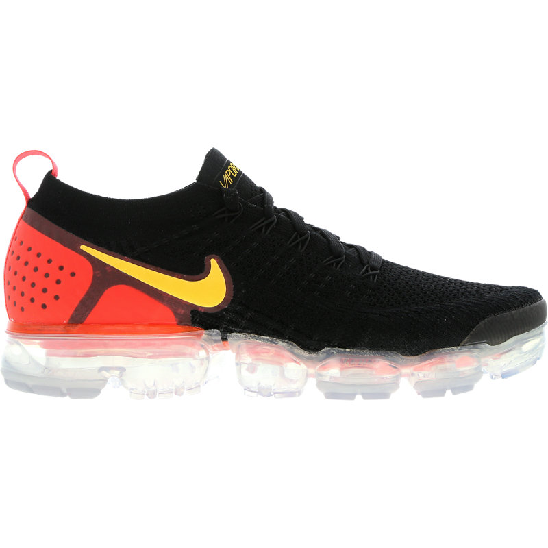 Air VaporMax 2 Black Laser Orange Total Crimson