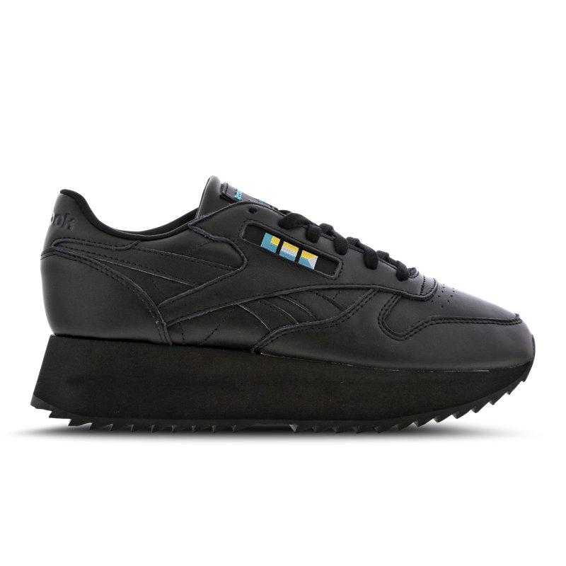 Reebok Classic Leather damessneaker zwart