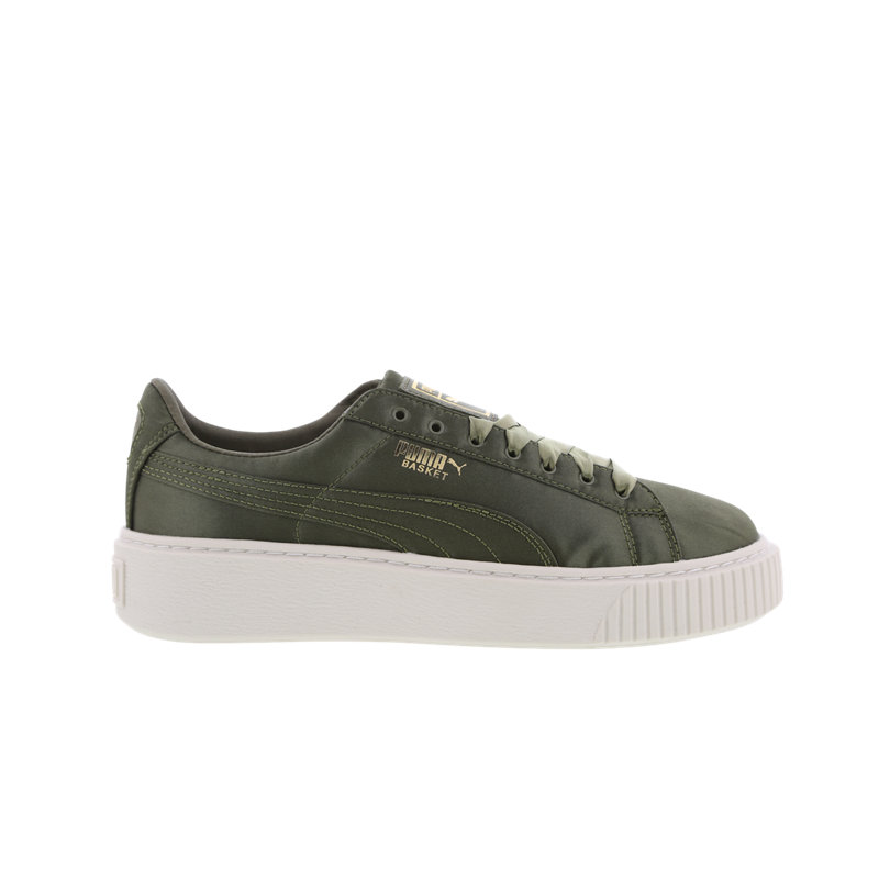 Puma Basket Platform Satin - Women Shoes Image