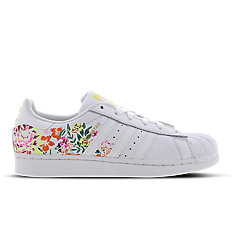adidas Superstar Flower Embroidery White Womens Footlocker Exclusive
