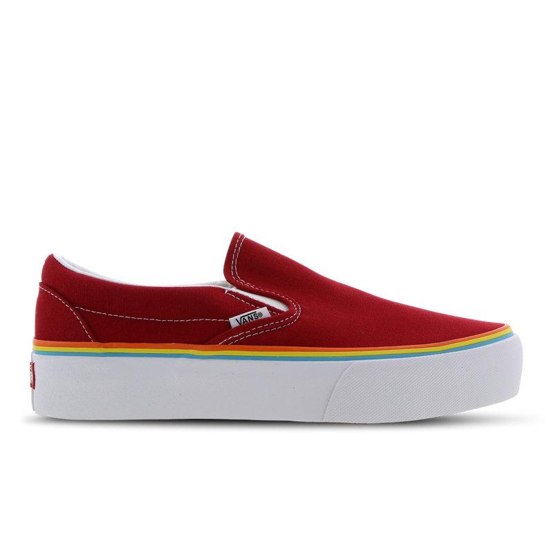 Vans Classic Slip-On damessneaker rood