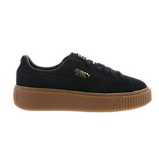 new concept 57778 e198a Shoptagr | Puma Suede Platform Grade School Shoes by Foot Locker