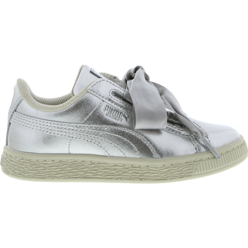 new products 8e8d4 7a2da Puma Basket Heart Metallic Pack - Pre School Shoes