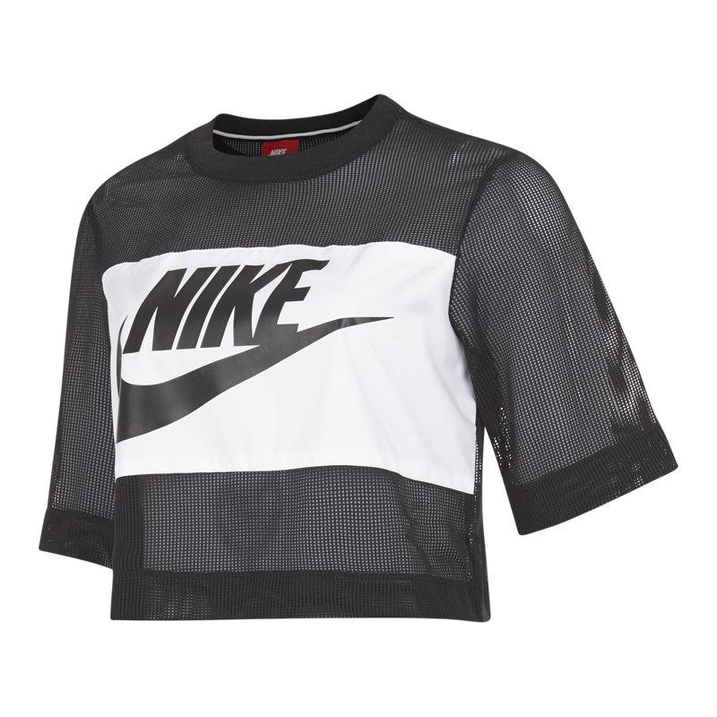 4f0f3c763cdf7 Nike Sportswear Top Crop Mesh - Women T-Shirts | 848529-010 | FOOTY.COM