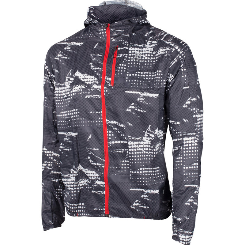 Salomon FAST WING GRAPHIC HOODY - Herren Laufjacken & -westen