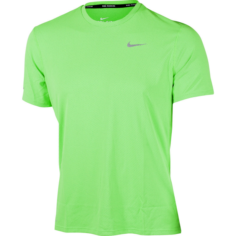 Nike DRI-FIT CONTOUR SHORT SLEEVE SHIRT - Herren Laufshirts