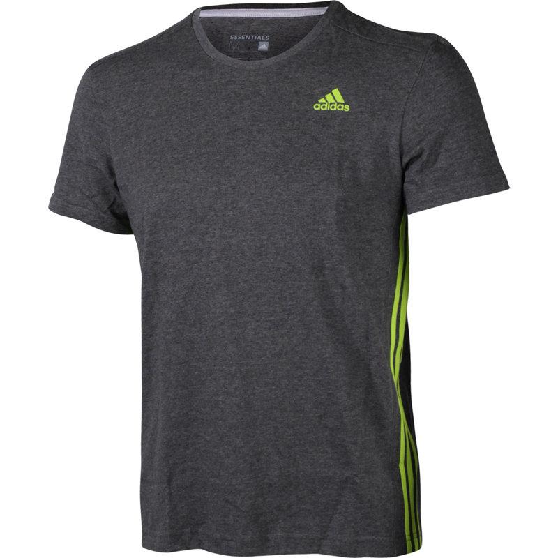 adidas ESSENTIALS 3S MID TEE - Herren Sport Shirts & Tops