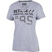 Reebok WORKOUT READY GRAPHIC SUPREMIUM DAMEN FITNESSSHIRT KURZ Produktbild