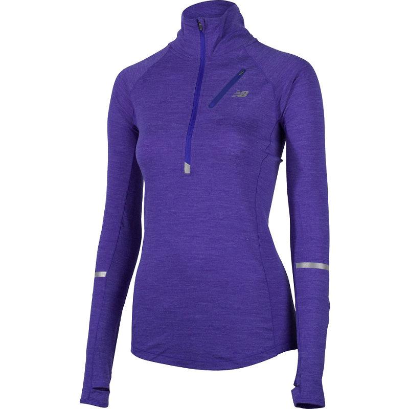 New Balance PERFORMANCE MERINO HALF ZIP - Damen Laufshirts - broschei