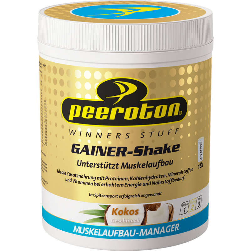 Peeroton GAINER-SHAKE LIMITED KOKOS 600GR (Grundpreis: 56,50 EUR je 1kg) - Unisex Recover
