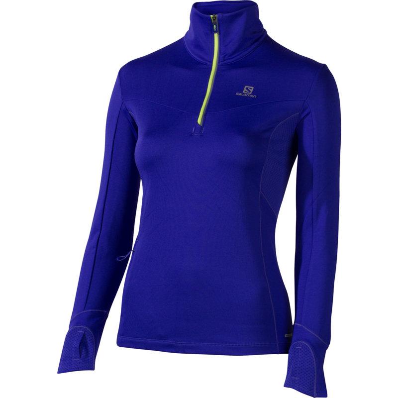 Salomon TRAIL WARM MIDLAYER - Damen Laufshirts - broschei