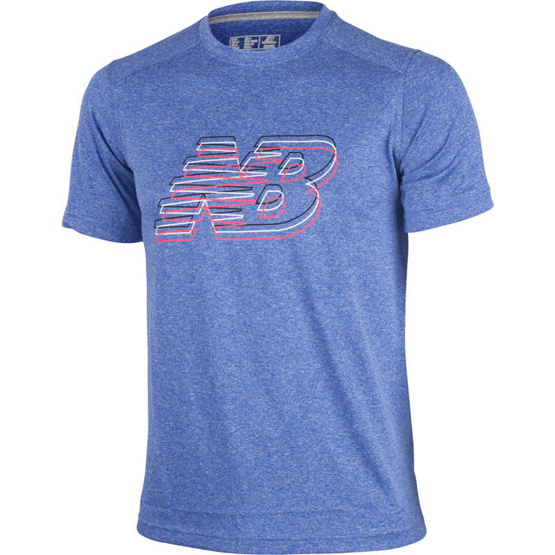 New Balance HEATHERED GRAPHIC TEE - Herren Laufshirts