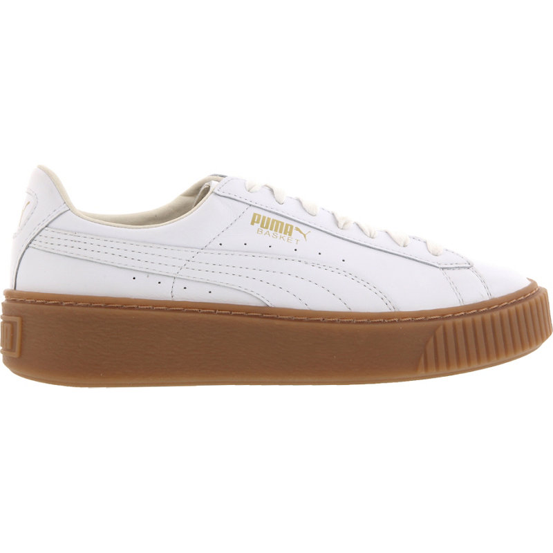 puma basket platform core weiß damen